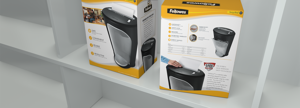 Packaging design for Fellowes® DS-1 Paper Shredder