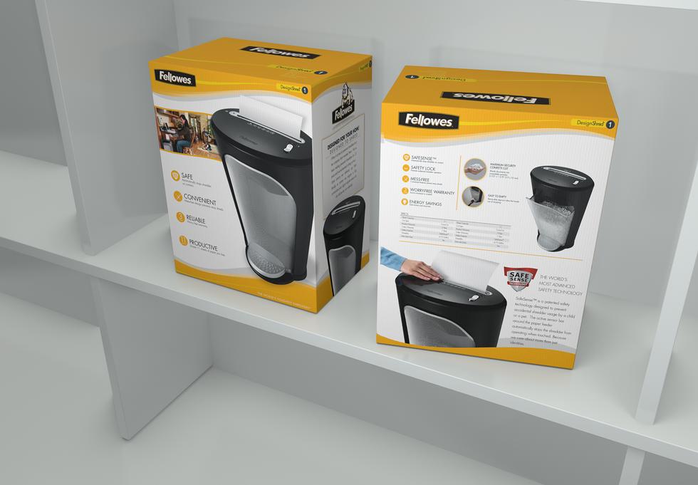 Packaging design for Fellowes® DS-1 Paper Shredder
