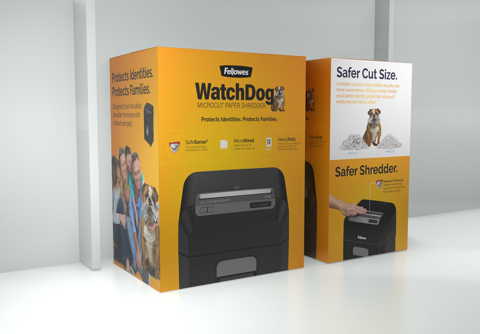 Fellowes® Watchdog Packaging for Costco