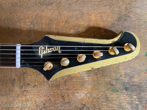Gibson Firebird refin goldtop over dark