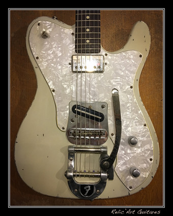 guitar tele olympic white relic