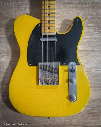 Relic'Art Fender American Standard Telecaster refin aged blonde relic
