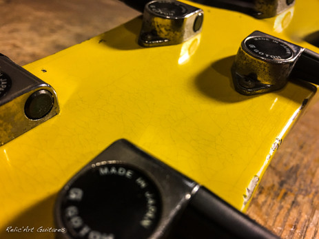 Greco bass tv yellow