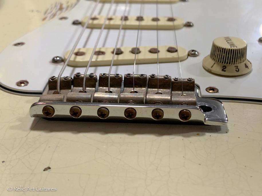 Fender stratocaster Jimi Hendrix refin vintage white relic