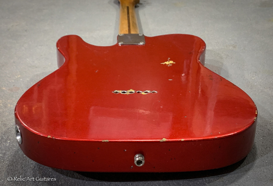Fender Telecaster refin Candy Apple red relic