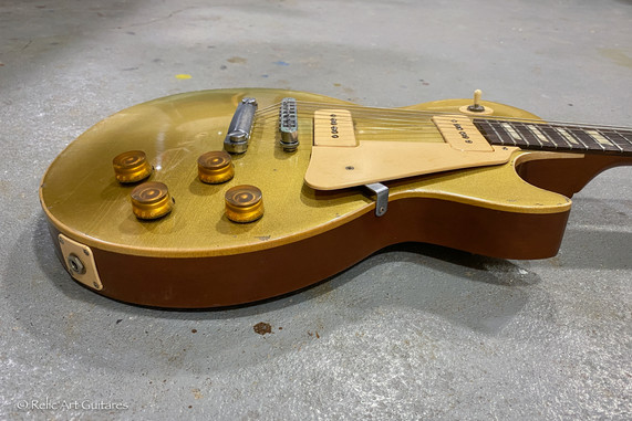 Gibson Les Paul refin gold Top relic-5.j
