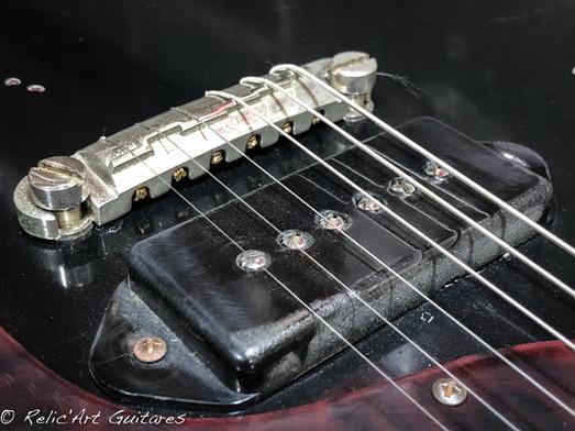 Burny Guitar Junior deep black relic