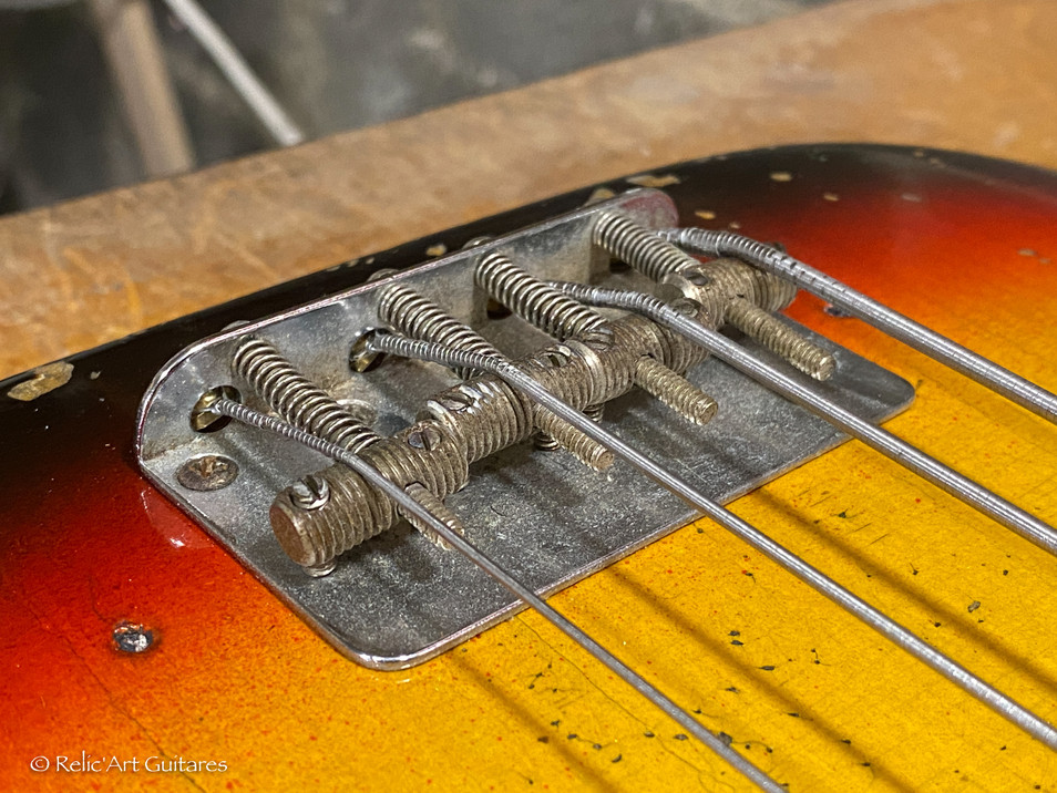 Fender Precision Bass 1963 refin Sunburs