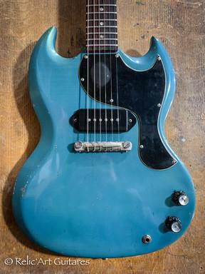 Gibson SG 1965 refin pelham blue relic-3