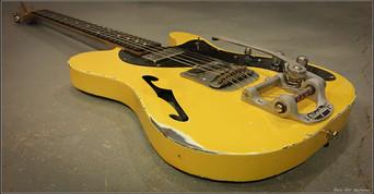 guitar telecaster graffiti yellow