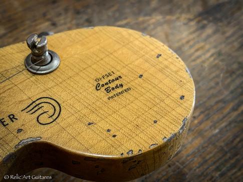 Fender Jazzmaster refin Sunburst 2t relic