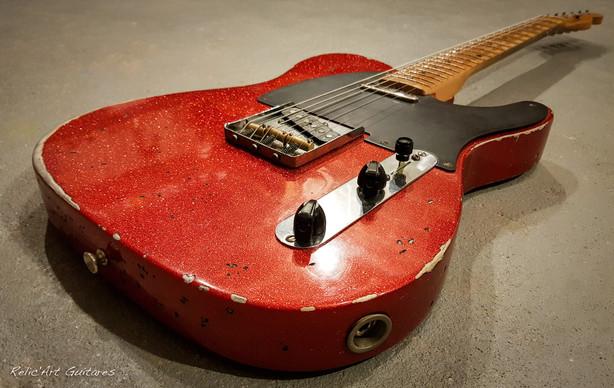 Fender telecaster red sparkle relic