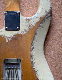 Fender stratocaster refin faded olympic white relic