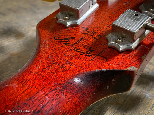 Gibson 335 refin faded cherry relic-33.j