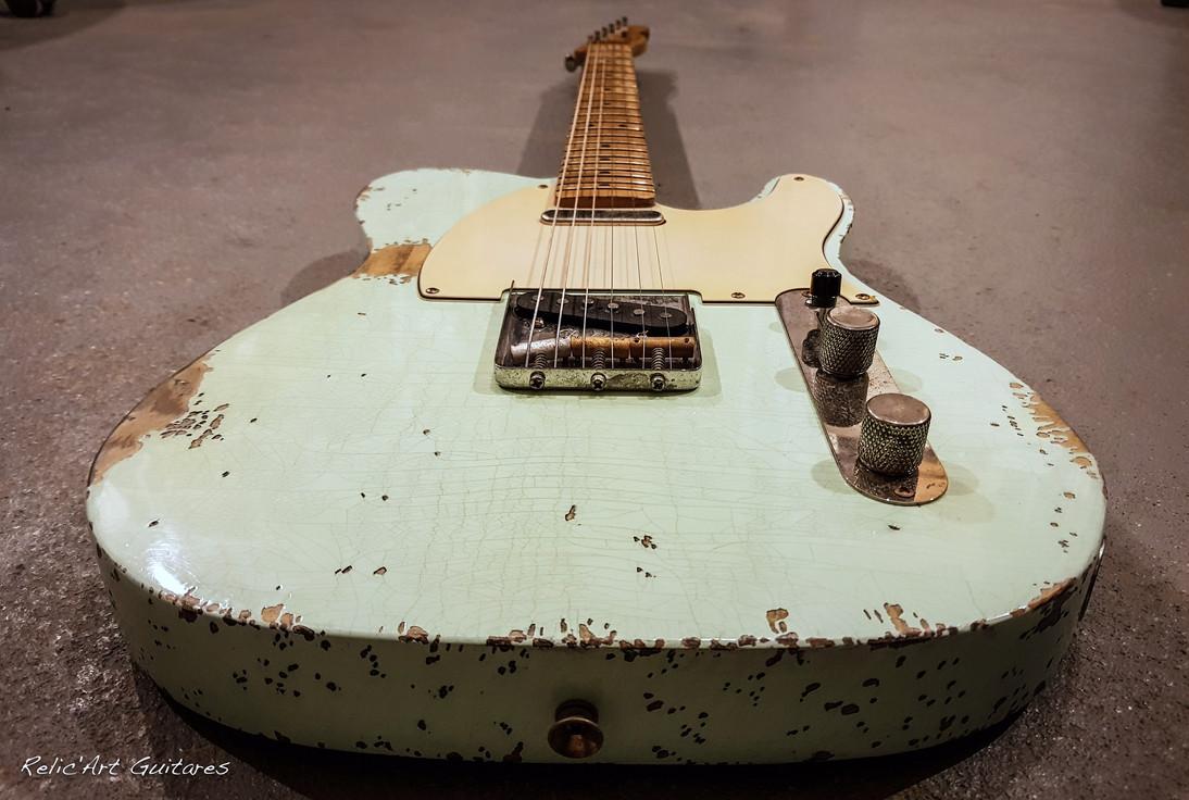 guitar tele surf green relic