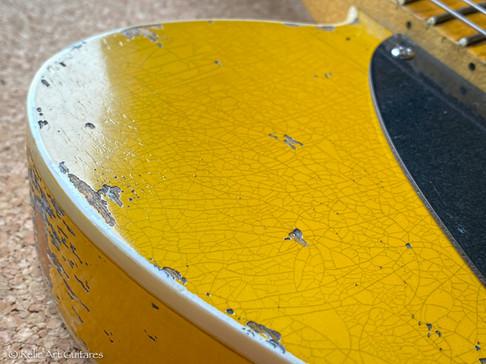 Fender telecaster mex refin aged blonde relic