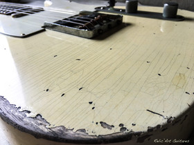 guitar tele vintage white relic