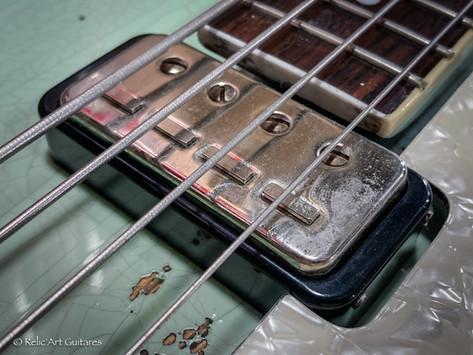 Hofner Violin bass refin faded daphne blue relic