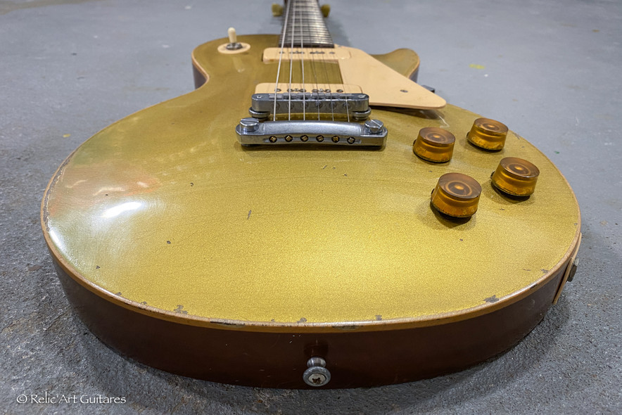 Gibson Les Paul refin gold Top relic-6.j