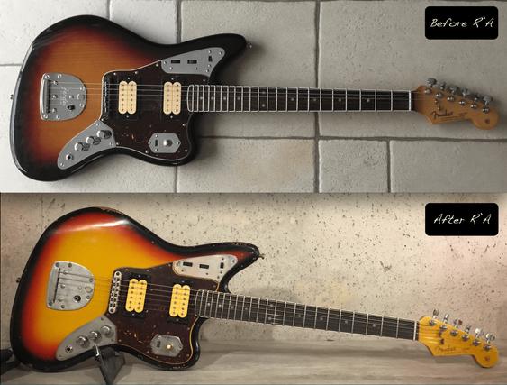 Fender Jaguar sunburst relic