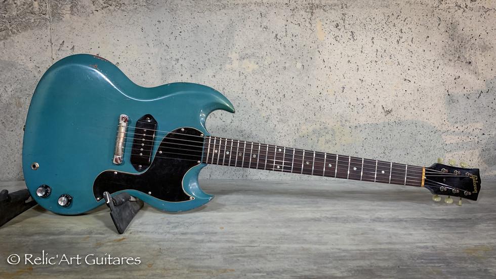 Gibson SG 1965 refin pelham blue relic.j
