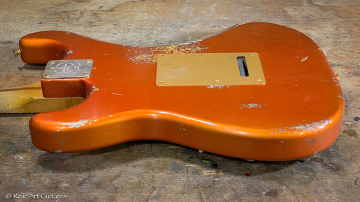 Fender Stratocaster 60TH ANNIVERSARY CLASSIC PLAYER '50S refin Candy Tangerine relic