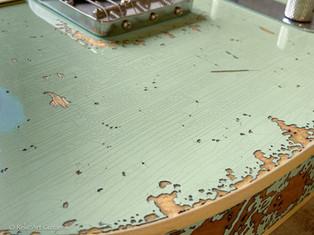 Fender Telecaster RI 62 custom refin surf green over sunburst