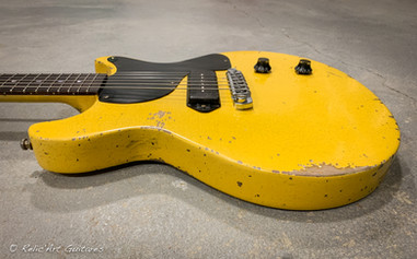 Les Paul Jr DC Tv Yellow relic-7.jpg