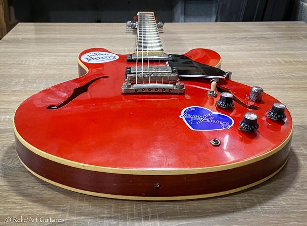 Epiphone ES-335 refin faded cherry relic