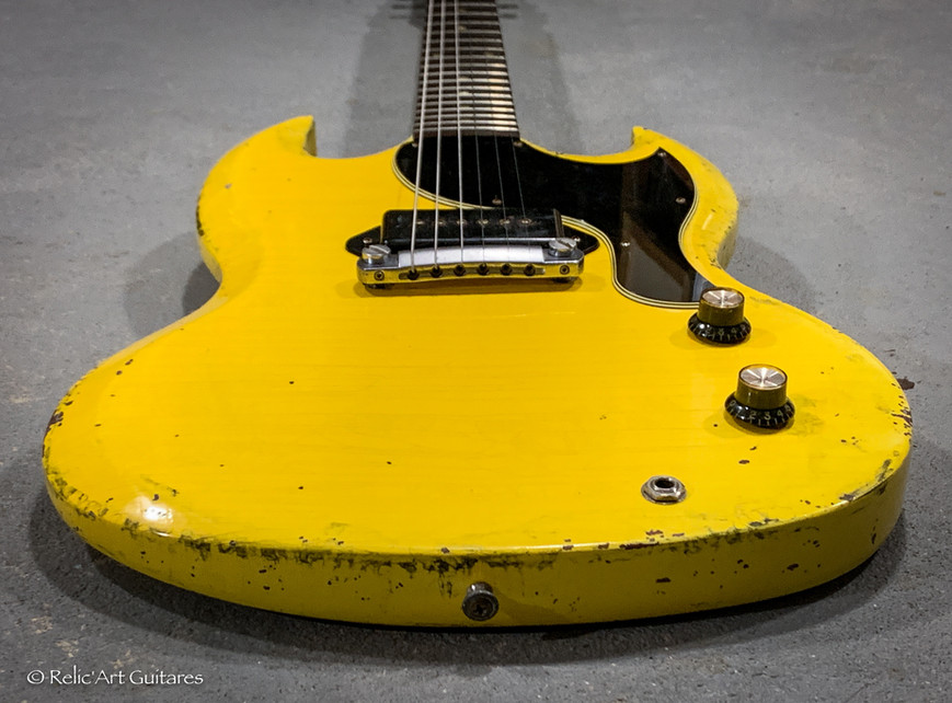 Gibson SG refin Tv Yellow relic