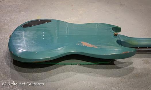 Gibson SG 1965 refin pelham blue relic-7