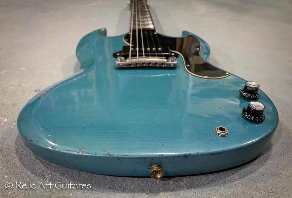 Gibson SG 1965 refin pelham blue relic-6
