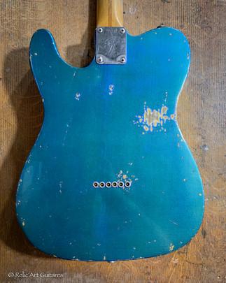 Fender telecaster 1972 refin Lake Placid Blue aged relic