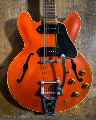 Gibson 335 refin faded cherry relic-3.jp