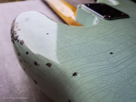 Squier precision bass surf green relic