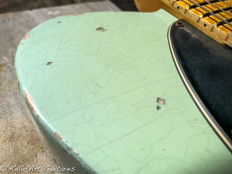 guitar tele surf green relic
