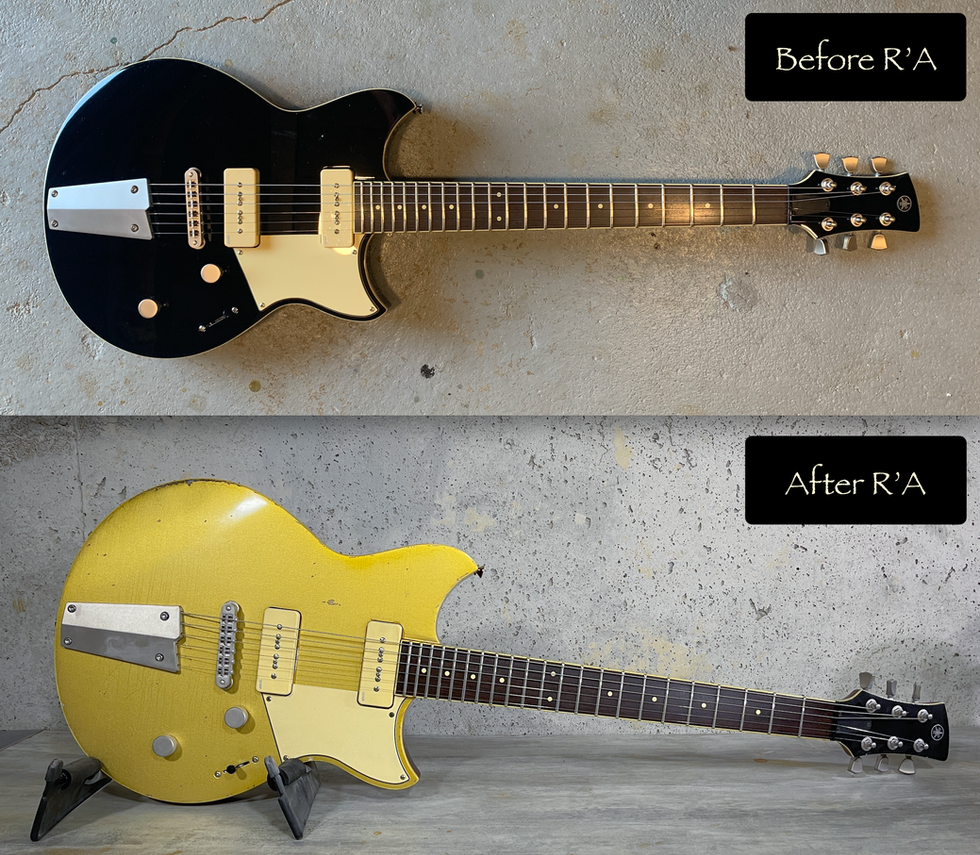Relic'Art Yamaha Revstar refin Gold Top relic
