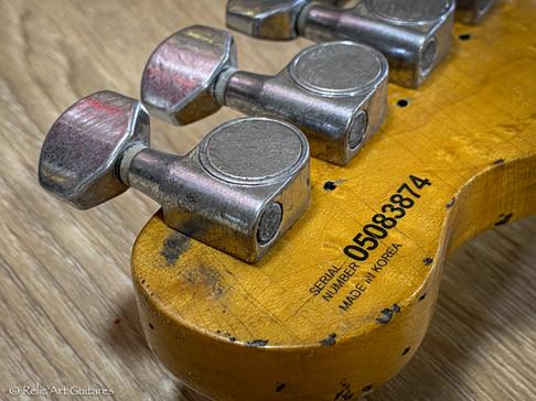 Fender telecaster lite ash special edition korea refin butterscotch relic