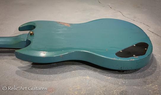Gibson SG 1965 refin pelham blue relic-9