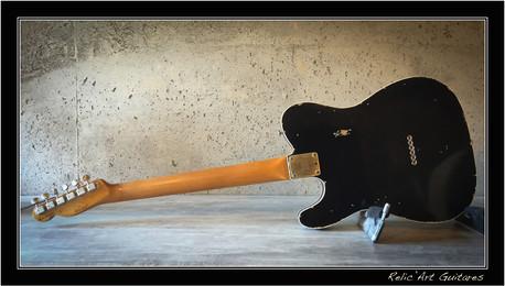 fender telecaster jet black relic
