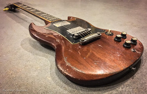 Gibson SG worn brown relic