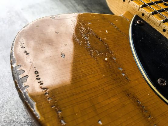 Guitar tele butterscotch relic