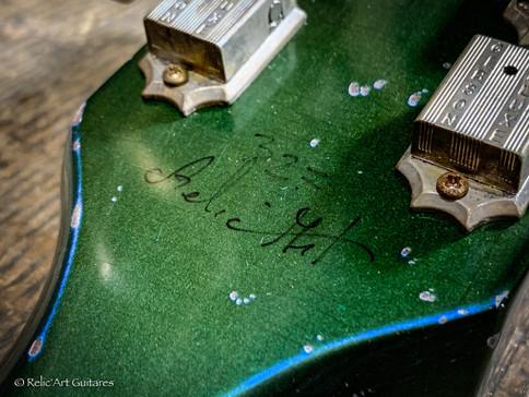Gibson Les Paul Jr refin Inverness Green