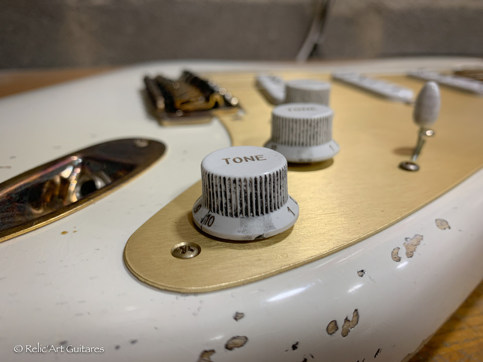 Fender stratocaster US 54 refin Gilmour 0001 relic style