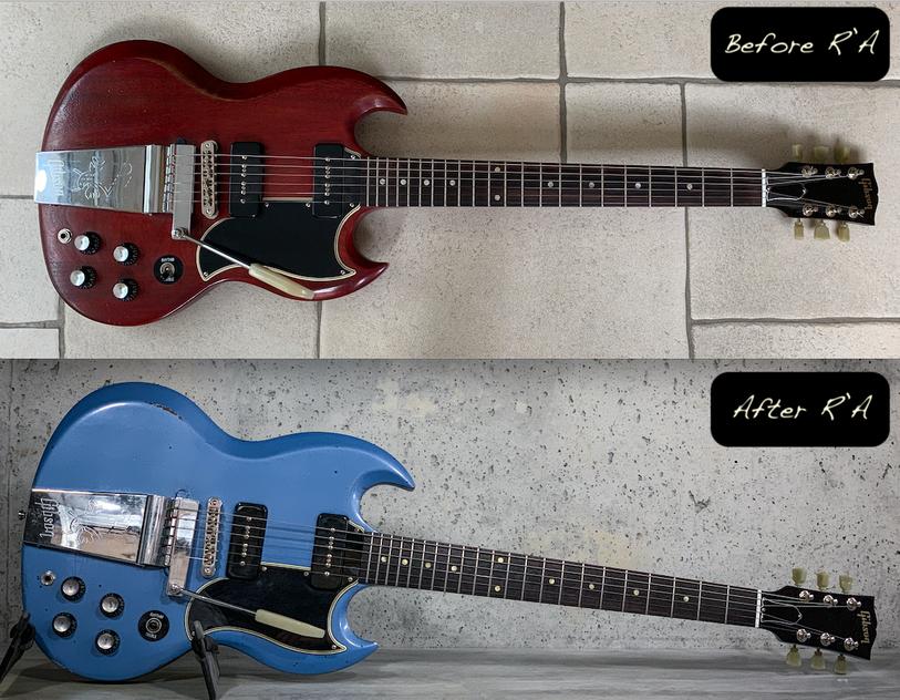 Gibson SG refin Pelham Blue relic