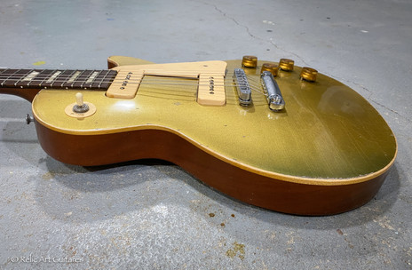 Gibson Les Paul refin gold Top relic-7.j