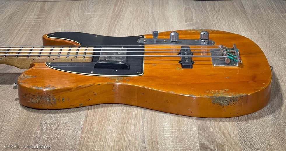 Squier PJ Bass refin butterscotch relic