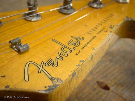 Fender stratocaster refin jet black reli