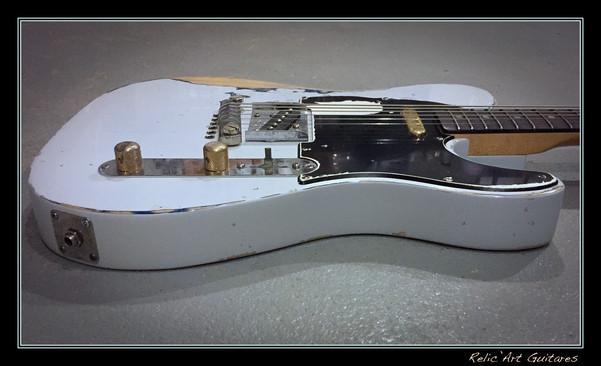 guitar telecaster rick parfitt replica relic olympic white