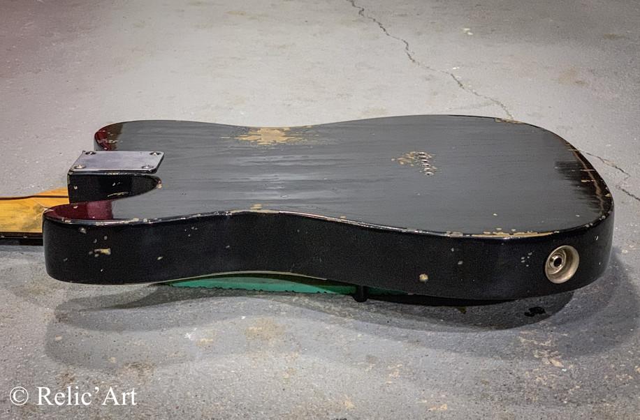 Telecaster refin jet black relic